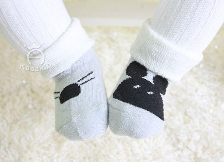 ถุงเท้าเด็กกันลื่นอย่างหนา ไซส์ 10-12,12-14 ซม. MSH68