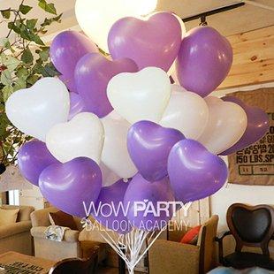 """ลูกโป่งหัวใจ เนื้อสแตนดาร์ทสีม่วง ไซส์ 12 นิ้ว แพ็คละ 10 ใบ (Heart Latex Balloon - Purple Color 12"""")"""