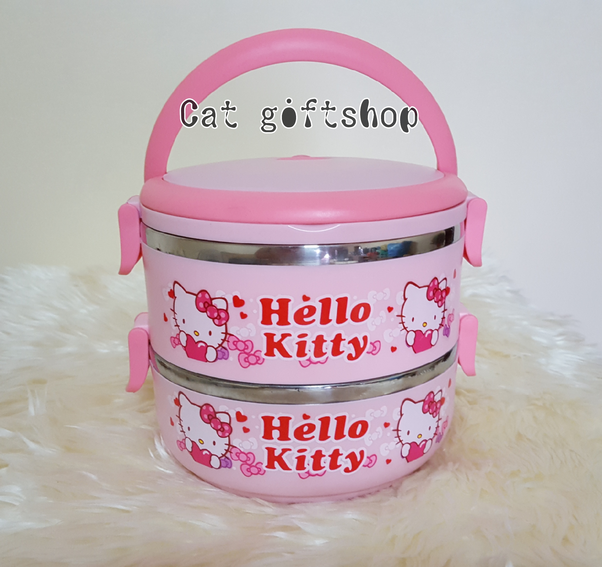 พร้อมส่ง :: ปิ่นโต 2 ชั้น ลาย kitty