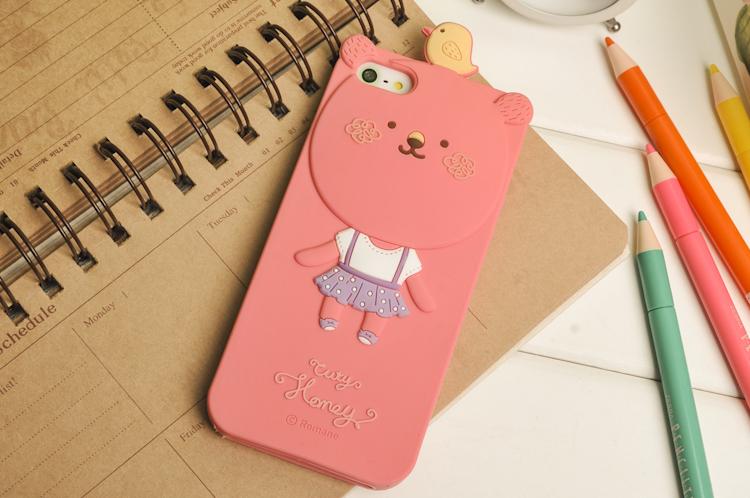 ** พร้อมส่งค่ะ ** เคส iPhone 5/5s MOMO 's Blog ลาย Honey Bear สีชมพู