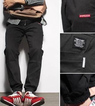 กางเกงขาจั๊ม แนวๆ jogg เอวยืด pop สีเขียว ดำ เบจ size 28-35