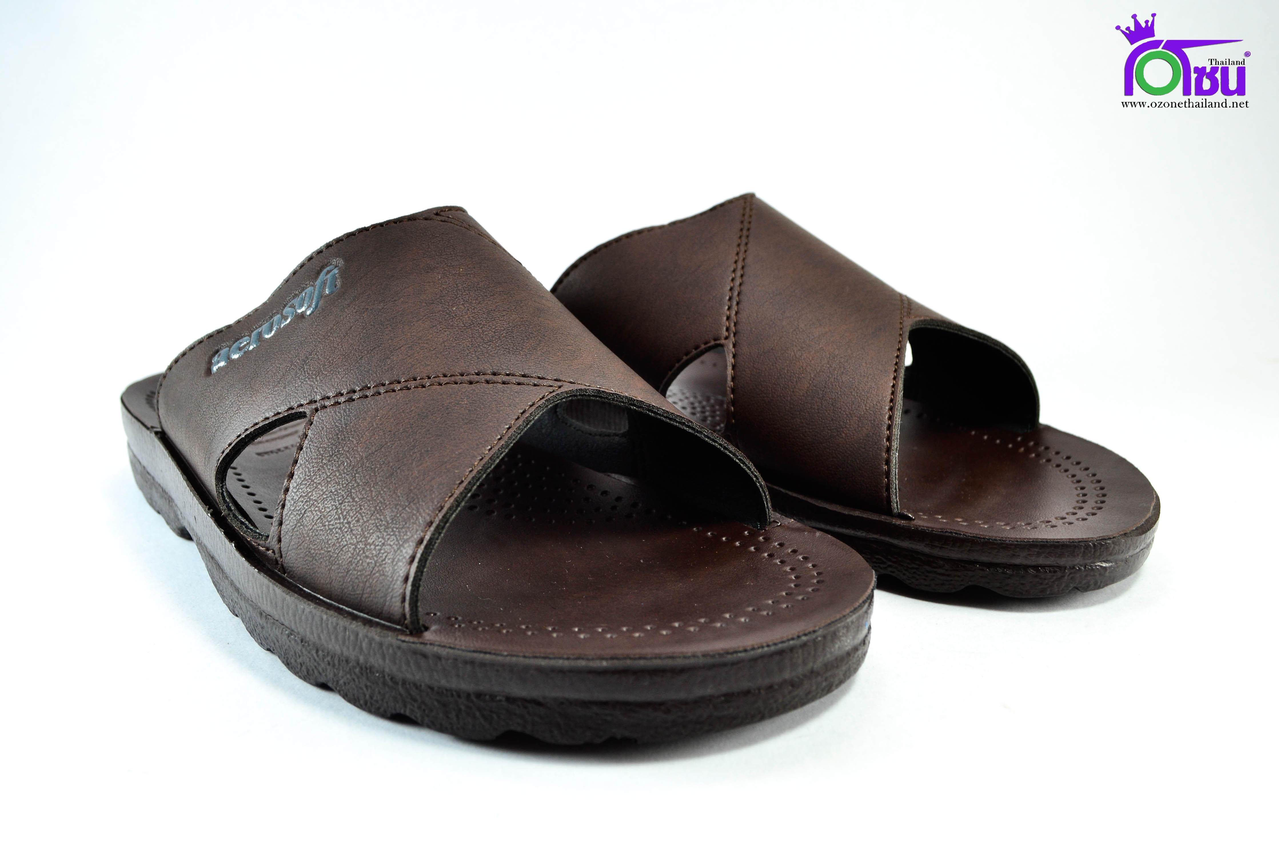 รองเท้าหนัง Aerosoft 4231 น้ำตาล