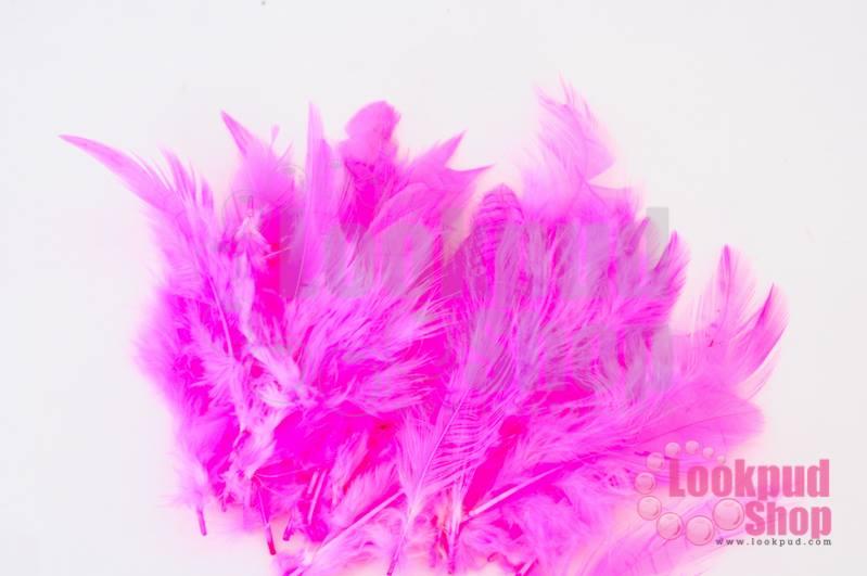 ขนนก สีชมพู 20 ชิ้น