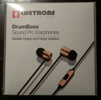 หูฟัง LIFETRONS DrumBass™ Sound Pro Earphones Metallic Design and Noise Isolation