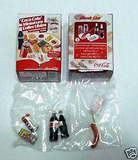 COCA COLA Minitaure Convenience Store DRINK FOOD set 3