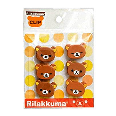 คลิป San-X Rilakkuma (แพ็ค6อัน)