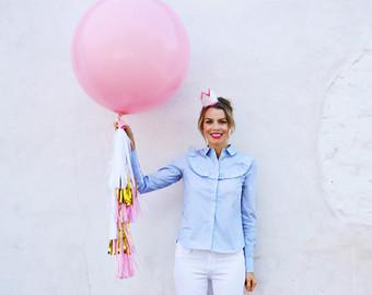 """ลูกโป่งกลมจัมโบ้ไซส์ใหญ่ 36""""Latex Balloon RB Pink 3FT สีชมพู/ Item No. TQ-42764 แบรนด์ Qualatex"""