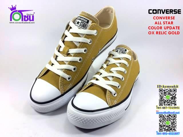 ผ้าใบ Converse All Star Color Update ox Relic gold สี เหลืองทอง เบอร์4-10