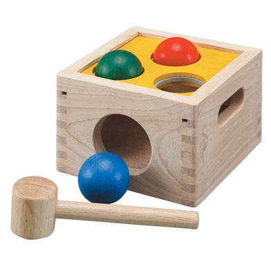 ของเล่นไม้ ของเล่นเด็ก ของเล่นเสริมพัฒนาการ Punch and Drop กล่องตอกลูกกลม (ส่งฟรี)