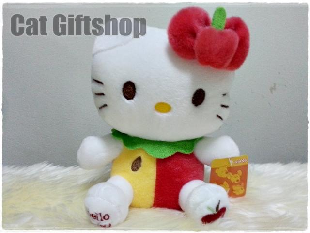 พร้อมส่ง :: ตุ๊กตาติดกระจก Hello Kitty Apple 21 CM
