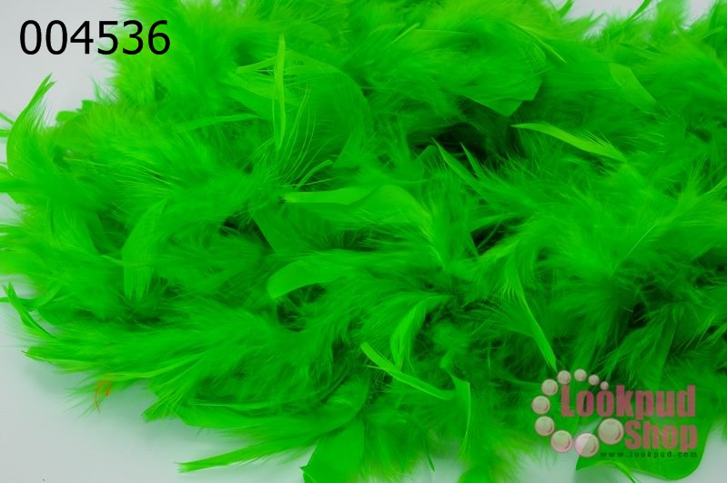 ขนนกเฟอร์ สีเขียว (1เส้น)