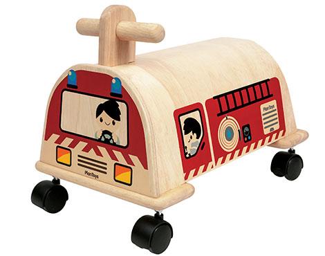 ของเล่นไม้ ของเล่นเด็ก ของเล่นเสริมพัฒนาการ Fire Engine รถดับเพลิง สไลด์ (ส่งฟรี)