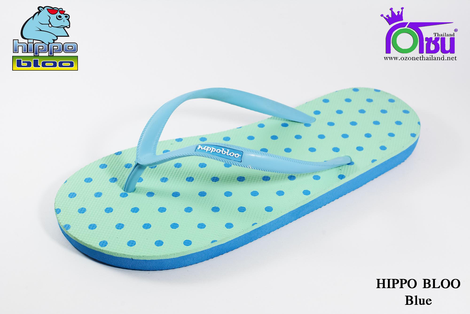 รองเท้าแตะ Hippo Bloo ฮิปโป บลู ลายจุด สีฟ้า เบอร์ 9,9.5,10