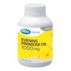 Mega We Care Evening Primrose Oil 30 แคปซูล ลดอาการผิดปกติก่อนมีประจำเดือน ผิวหนังแห้ง ลดโคเลสเตอรอล