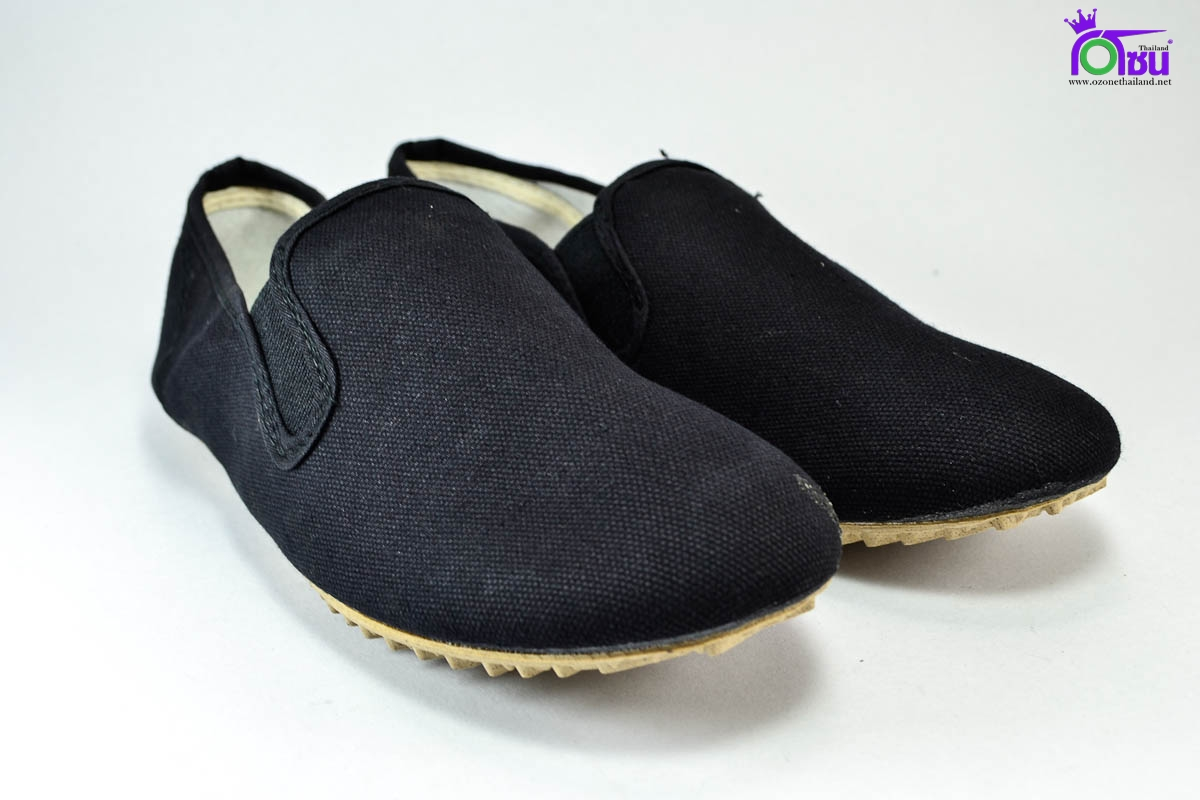 รองเท้าผ้าใบ กังฟู Kungfu สีดำ เบอร์ 36-45