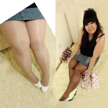 [พร้อมส่ง] PLG6816 ถุงน่องขาเนียน สำหรับสาวอวบ เจ้าเนื้อ