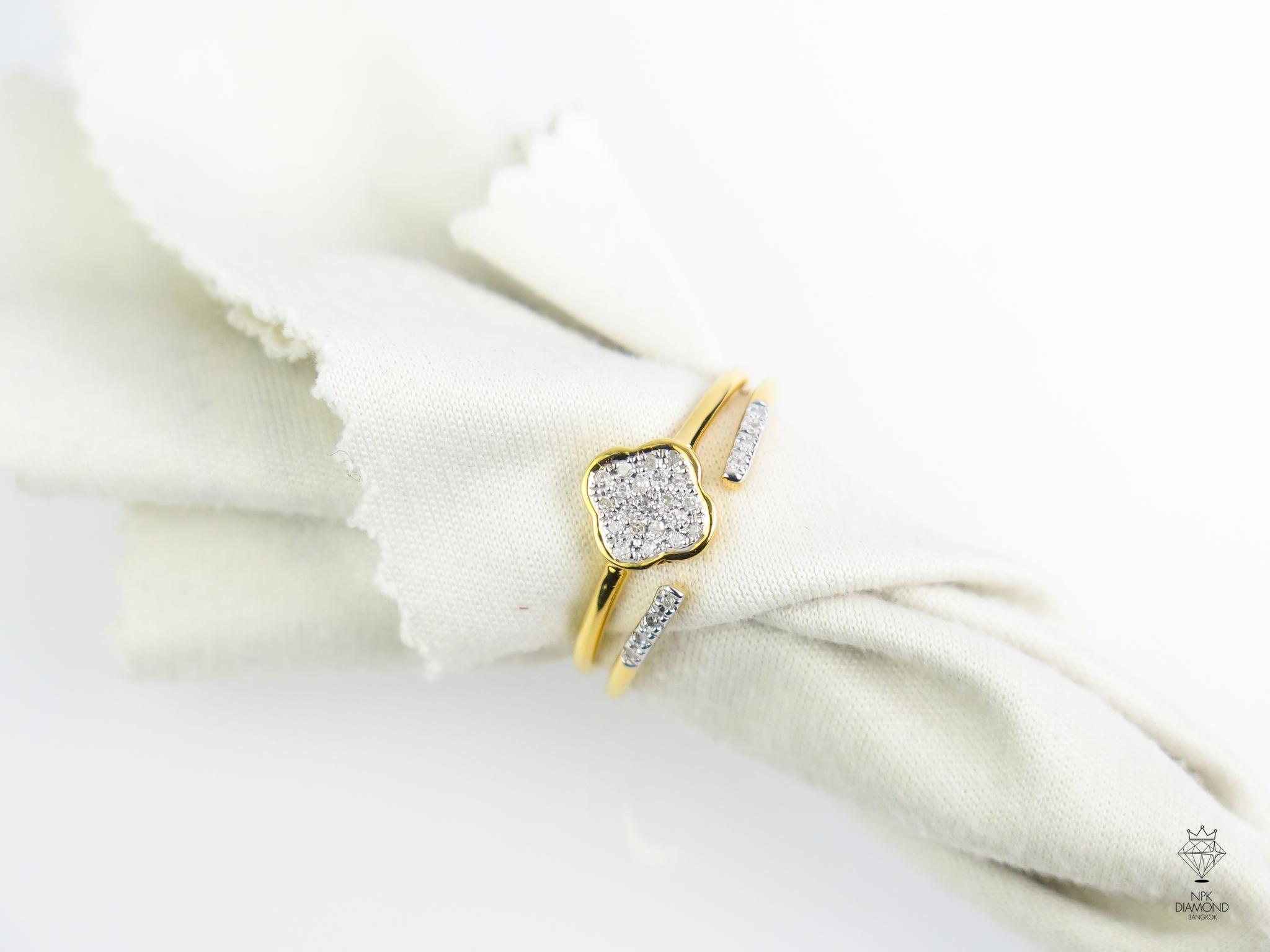 แหวนเพรชใบไม้ Van cleef