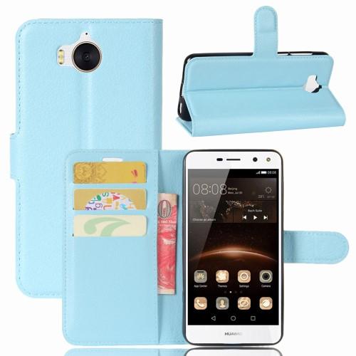 เคสฝาพับ OPPO A71 รุ่น Litchi Skin สีฟ้า