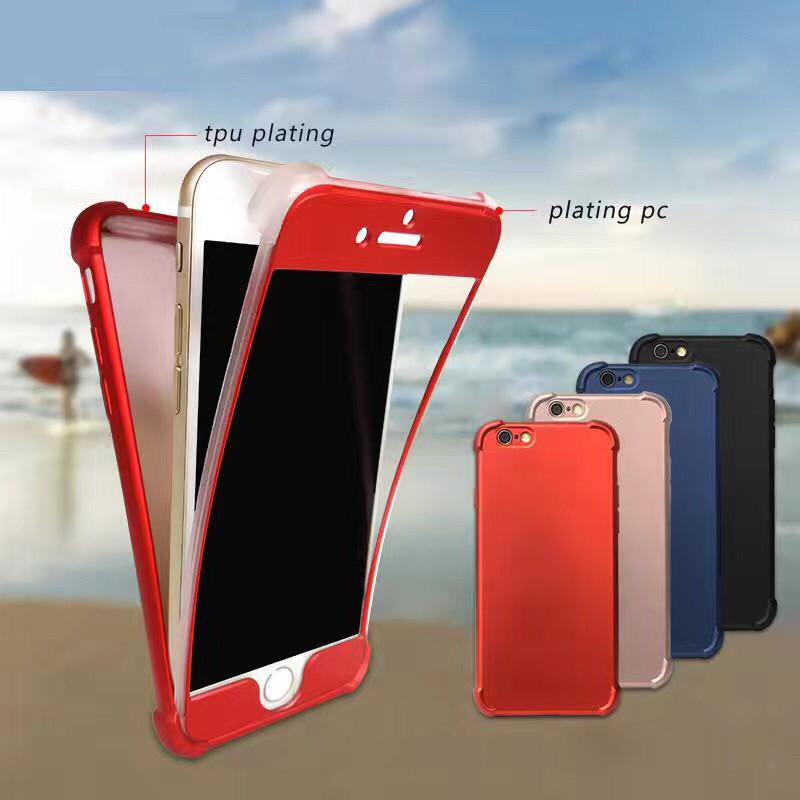เคสประกบนิ่มกันกระแทกมุม เคลือบเมทัลลิค ไอโฟน 74.7 นิ้ว(ใช้ภาพรุ่นอื่นแทน)