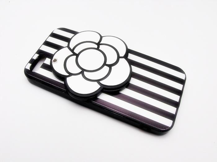 เคสดอกไม้ซ่อนกระจก ขาว-ดำ ไอโฟน 6/6s 4.7 นิ้ว