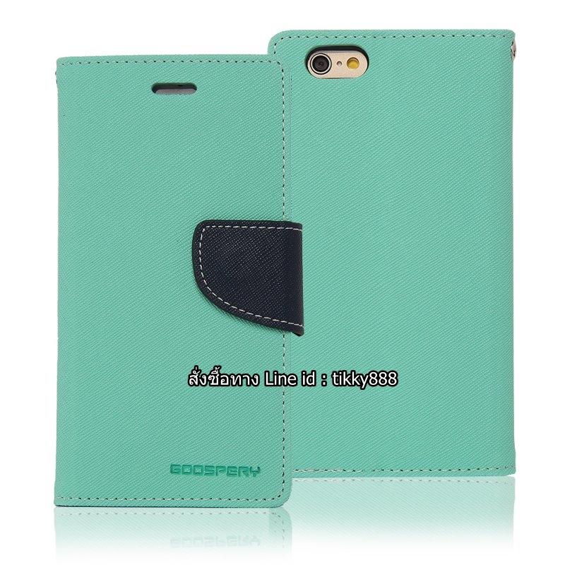 เคสฝาพับ iPhone 6 Goospery Fancy Diary สีเขียวมินต์ by Mercury