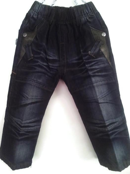 JD1202 กางเกงยีนส์เด็กชาย ดีไซส์ลายปักเท่ห์ทั้งด้านหน้า-หลัง เอวยางยืด เหลือ Size 3 และ 5 ขวบ ขายปลีกในราคาส่งให้เลยจ้า