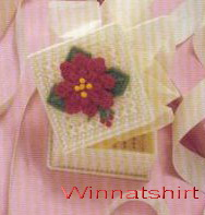 ชุดปักแผ่นเฟรมกล่องใส่ของลายดอกชบาสีแดง
