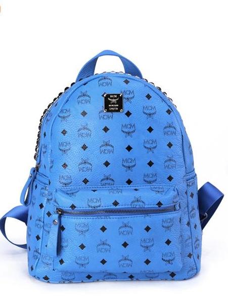 กระเป๋า MCM สีน้ำเงิน(ไม่ปักหมุด)