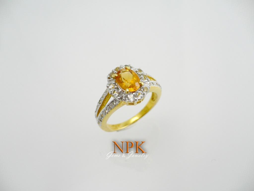 แหวนพลอยซิทรีน(Citrine Silver Ring) สั่งทำได้ค่ะ