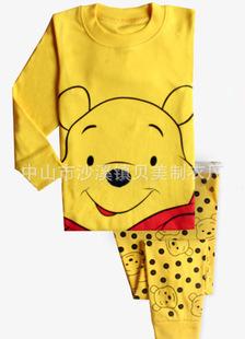 ชุดนอนลายหมีพูห์สีเหลือง แพ็ค 5 ชุด [size 2y-3y-4y-5y-6y]