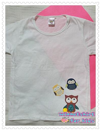 เสื้อยืดเด็ก ลายนกฮูก แบบที่ 6 Size M