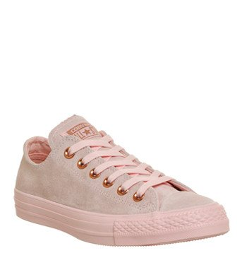 Converse All Star Low Leather Trainers Vapour Pink Mouse Exclusive