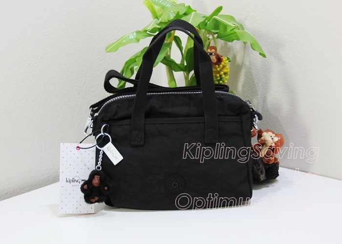 Kipling Emoli Black หิ้วได้ สะพายได้ ใบเล็กน่ารักขนาด 9.25 x 7 x 4.75 นิ้ว