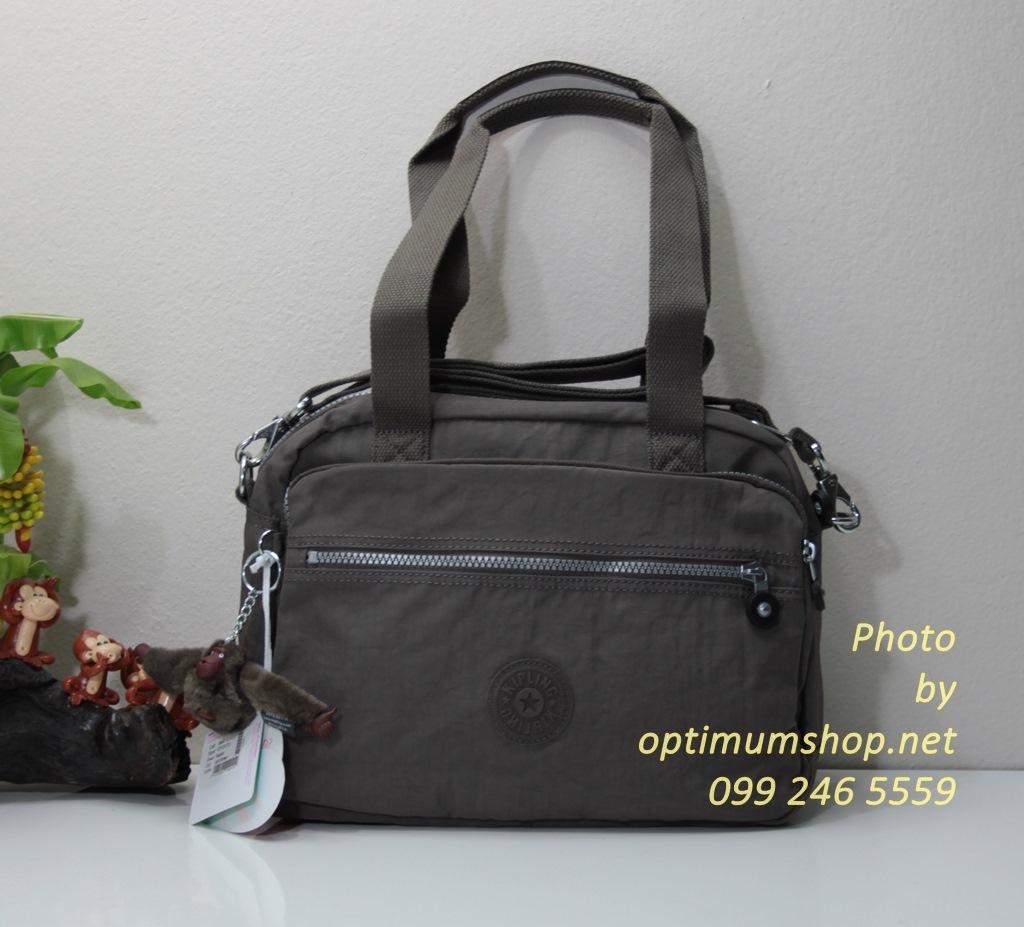Kipling Nagoto Light Brown กระเป๋าสะพายข้าง ช่องขนาดใหญ่ รุ่นเก่าหายาก ขนาด 32.5 L x 28 H x 17W cm