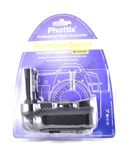 Phottix BP-D5000 Premium Grip for Nikon D5000