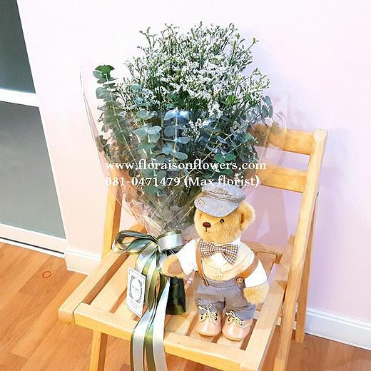ช่อดอกไม้เอิร์ธโทน (M)