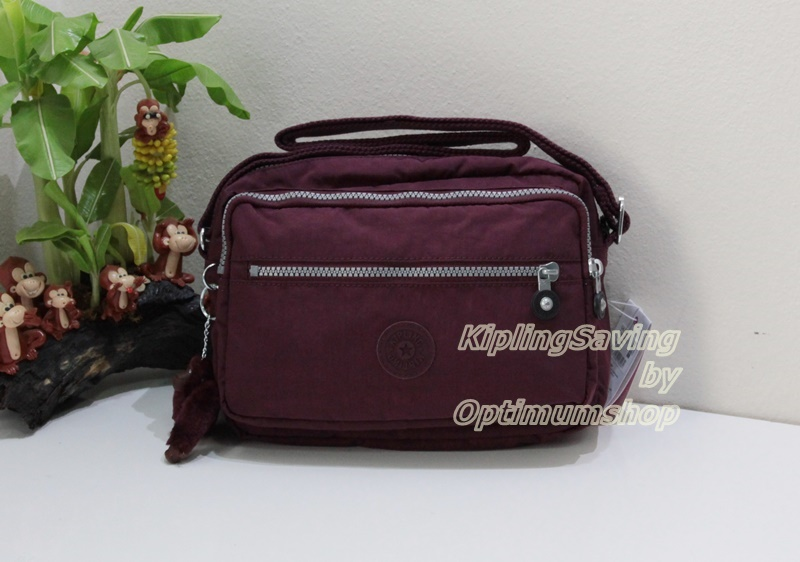 Kipling Deena Crimson กระเป๋าสะพายคล้ายรุ่น Reth ขนาด 25.5 L x 19 H x 12.5 W cm small