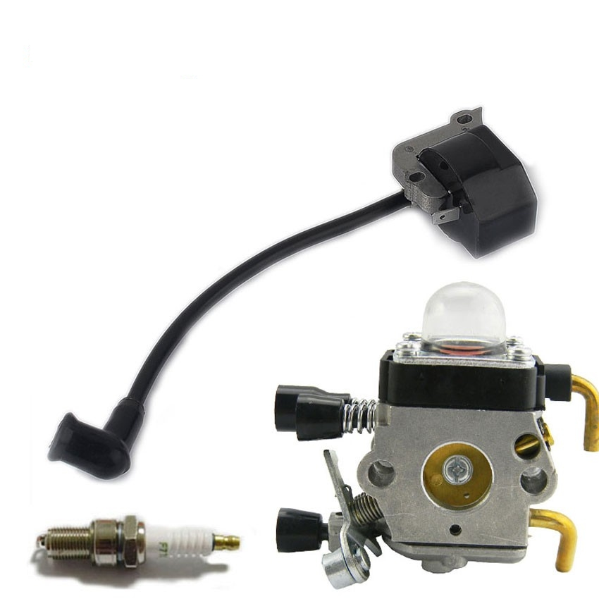 IGNITION COIL Carburetor Carb For STIHL FS38 FS55 FC55 FS45 FS46 HS45 KM55 4140 400 1308 Trimmer Weedeater Cutters
