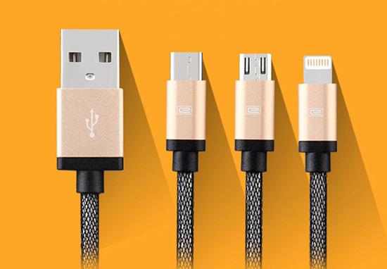 สายชาร์จ 3 in 1 iPhone+Micro USB+TYPE-C