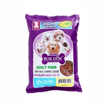 Bokdok อาหารเม็ดสุนัขโต รสเนื้อ ไก่ ตับ และผัก