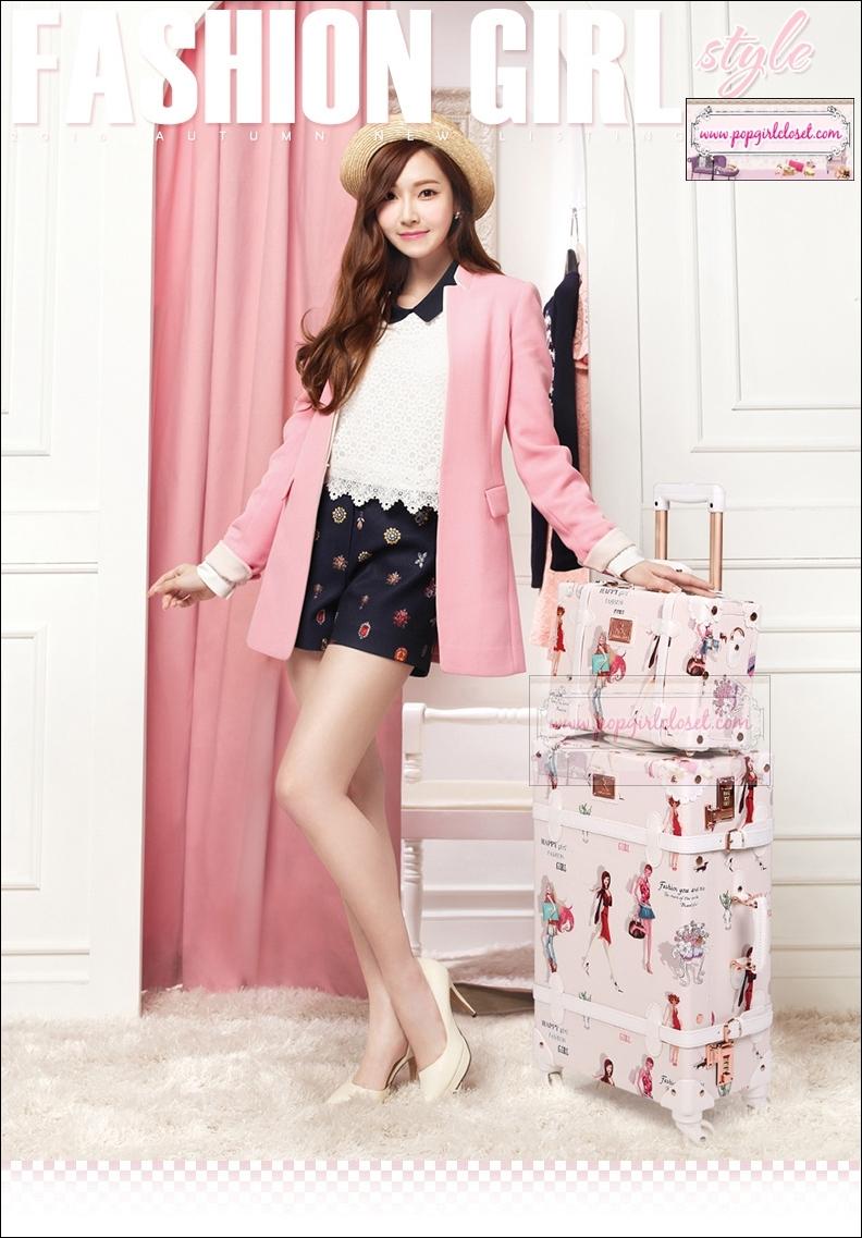 """กระเป๋าเดินทางดีไซน์วินเทจ อัพเกรด 4 ล้อ UNIWALKER""""Fashion Girl"""" for Winter 2016 Luggage&Suitcase Japanese Style ไซส์ 20"""", 22"""", 24, 26"""" หนัง PU (Pre-order) ราคาสินค้าอยู่ด้านในค่ะ"""