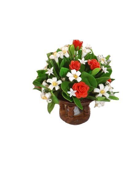 พานไม้ดอกกุหลาบ - ดอกพุทธ (ขนาดเล็ก)
