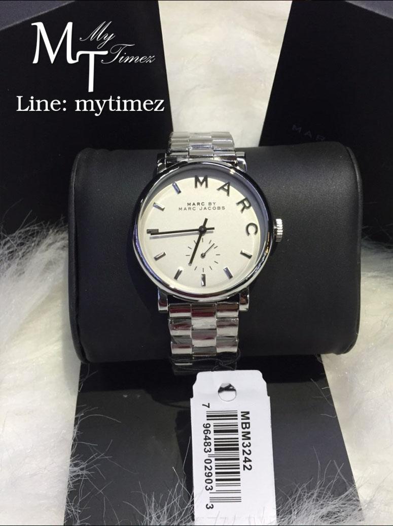 นาฬิกาข้อมือ Marc By Marc Jacobs รุ่น Baker White Dial Steel Ladies Watch MBM3242