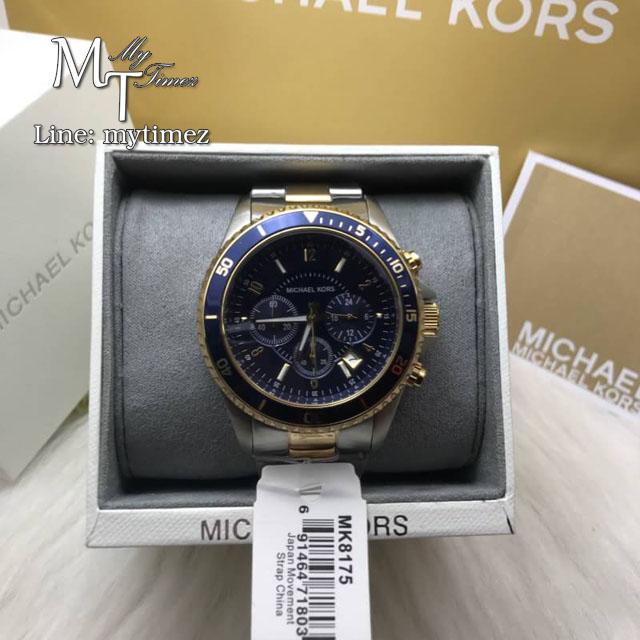 MICHAEL KORS Jet Set Chronograph Two-tone Bracelet Men's Watch MK8175