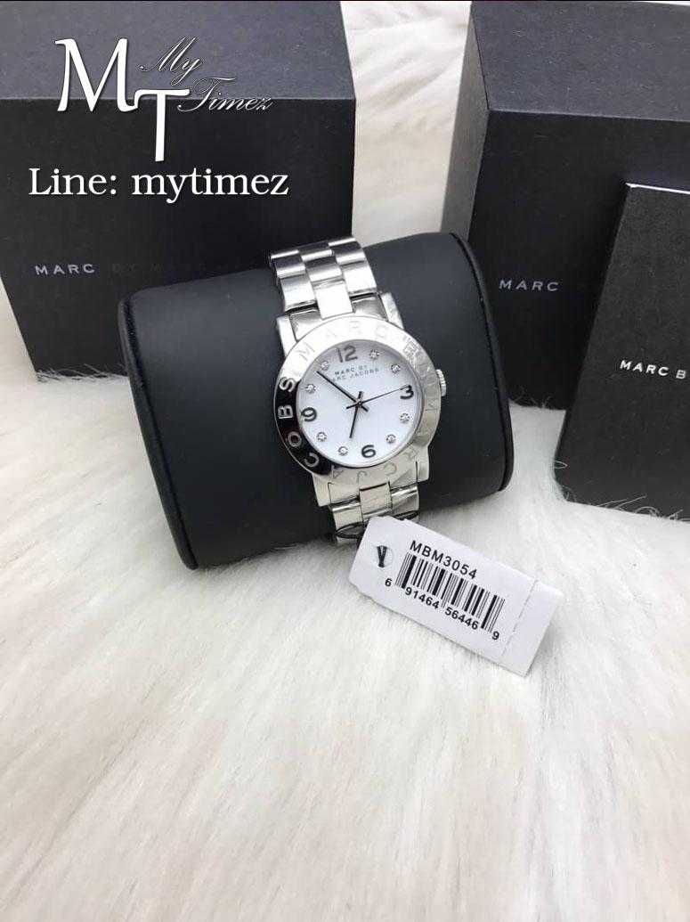 นาฬิกาข้อมือ MARC BY MARC JACOBS Amy White Dial Stainless Steel Ladies Watch MBM3054