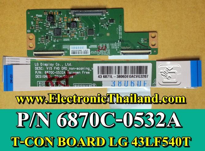 #T-CON BOARD LG 43LF540T,P/N 6870C-0532A