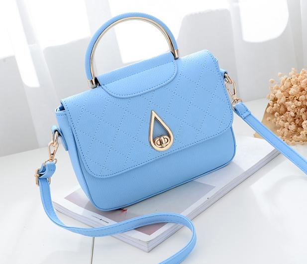 กระเป๋าถือ simple plate (สี Sky Blue)