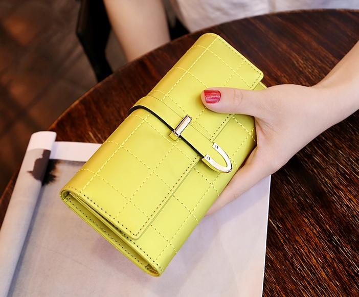 กระเป๋าสตางค์ผู้หญิง Table Top สีเหลือง