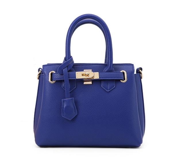 กระเป๋าสะพายข้างผู้หญิง PU Dutch (สี Deep blue)