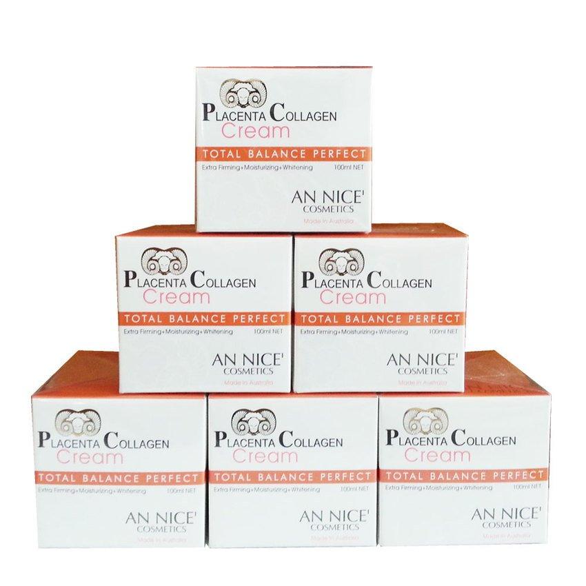 AN NICE' Placenta Collagen Cream ครีมรกแกะ 100ml. 6 กระปุก